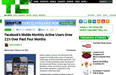 http://techcrunch.com/2012/02/01/facebook-has-425-million-mobile-monthly-active-users-up-from-350-million-in-september/