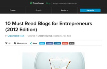 http://grasshopper.com/blog/2012/01/10-must-read-blogs-for-entrepreneurs-2012-edition/