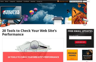 http://creativeoverflow.net/20-tools-to-check-your-web-sites-performance/