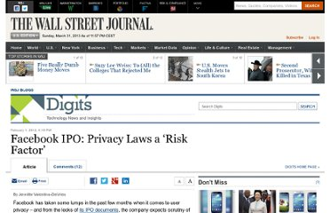 http://blogs.wsj.com/digits/2012/02/01/facebook-ipo-privacy-laws-a-risk-factor/
