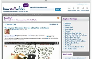 http://blogs.howstuffworks.com/2010/06/23/makes-you-think-the-way-you-think-about-time-has-a-big-effect-on-your-behavior/