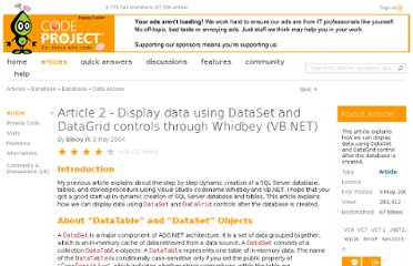 http://www.codeproject.com/Articles/7000/Article-2-Display-data-using-DataSet-and-DataGrid