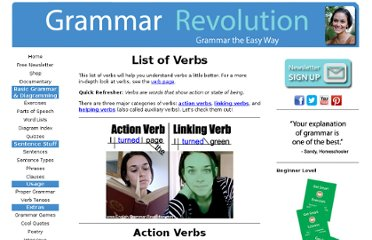 http://www.english-grammar-revolution.com/list-of-verbs.html