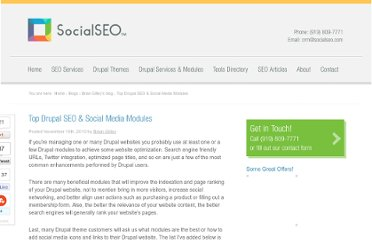 http://www.socialseo.com/blog/top-drupal-seo-social-media-modules.html