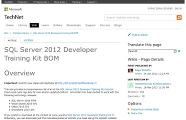 http://social.technet.microsoft.com/wiki/contents/articles/6982.sql-server-2012-developer-training-kit-bom.aspx#Module_1_Introduction_to_SQL_Server_2012