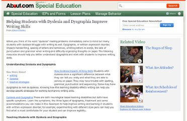 http://specialed.about.com/od/readingliteracy/a/Writing-and-Dyslexia-Hub.htm