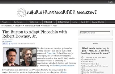 http://www.ctzine.com/tim-burton-to-adapt-pinocchio-with-robert-downey-jr/