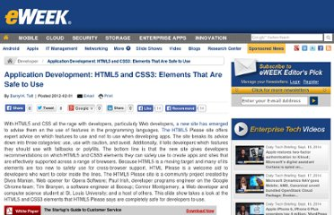 http://www.eweek.com/c/a/Application-Development/HTML5-and-CSS3-Elements-That-Are-Safe-to-Use-352183/