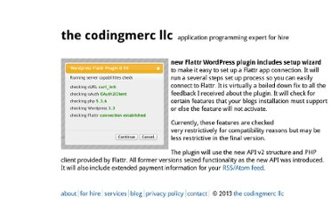 http://www.codingmerc.com/blog/new-flattr-wordpress-plugin-includes-setup-wizard/