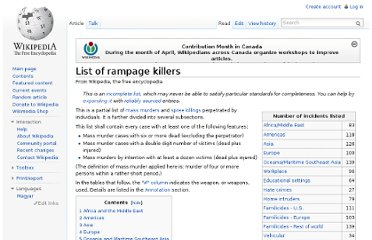 http://en.wikipedia.org/wiki/List_of_rampage_killers