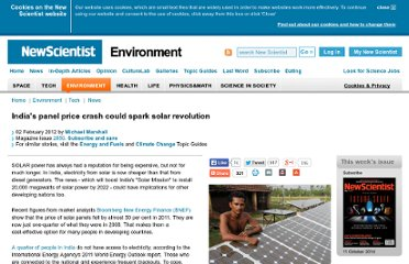 http://www.newscientist.com/article/mg21328505.000-indias-panel-price-crash-could-spark-solar-revolution.html