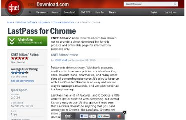 http://download.cnet.com/LastPass-for-Chrome/3000-33362_4-10976462.html