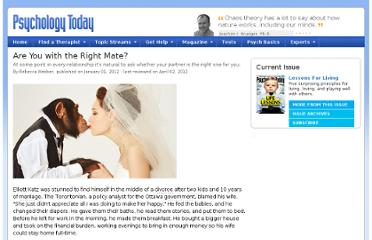 http://www.psychologytoday.com/articles/201112/are-you-the-right-mate