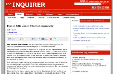 http://www.theinquirer.net/inquirer/news/1591582/france-falls-internet-censorship