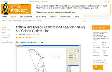 http://www.codeproject.com/Articles/14011/Artificial-intelligence-network-load-balancing-usi