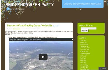 http://bridgendgreens.wordpress.com/2011/06/13/directory-of-anti-fracking-groups-worldwide/