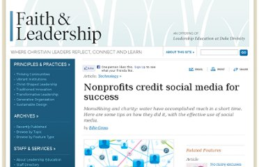 http://www.faithandleadership.com/features/articles/nonprofits-credit-social-media-for-success