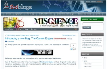 http://sciblogs.co.nz/misc-ience/2012/02/02/introducing-a-new-blog-the-cosmic-engine/