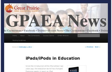 http://gpaeanews.wordpress.com/2012/02/02/ipadsipods-in-education/