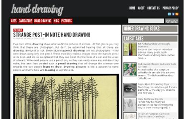 http://www.drawinghand.net/strange-post-in-note-hand-drawing/
