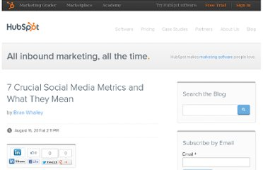 http://blog.hubspot.com/blog/tabid/6307/bid/29442/7-Crucial-Social-Media-Metrics-and-What-They-Mean.aspx
