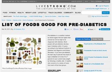 Livestrong com article 287242 list of foods good for pre diabetics