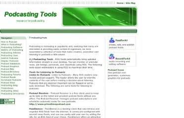 http://www.podcasting-tools.com/podcasting-tools.htm