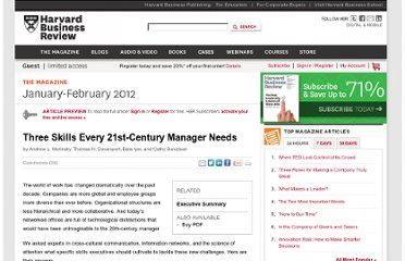 http://hbr.org/2012/01/three-skills-every-21st-century-manager-needs/ar/1