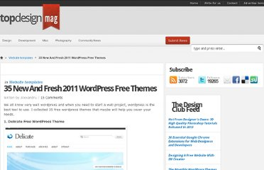 http://www.topdesignmag.com/35-new-and-fresh-2011-wordpress-free-themes/