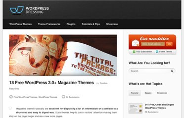 http://wpdressing.com/free-wordpress-3-0-magazine-themes/