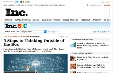 http://www.inc.com/matthew-swyers/5-steps-to-thinking-outside-of-the-box.html