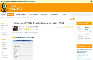 http://www.codeproject.com/Articles/19136/SharePoint-2007-Flash-Animation-Web-Part