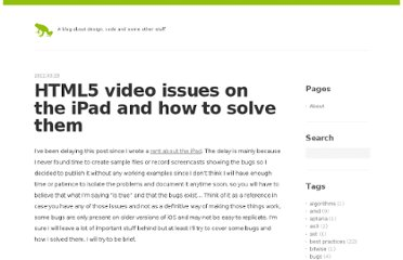 http://blog.millermedeiros.com/html5-video-issues-on-the-ipad-and-how-to-solve-them/
