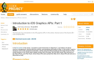 http://www.codeproject.com/Articles/93563/Introduction-to-iOS-Graphics-APIs-Part-1