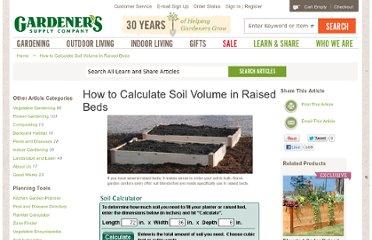 Gardening xlade pearltrees for Soil volume calculator