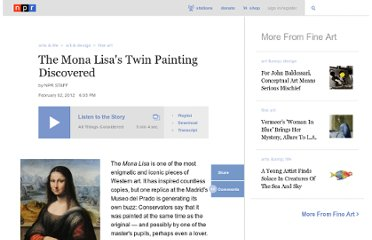 http://www.npr.org/2012/02/02/146288063/painting-sheds-new-light-on-the-mona-lisa