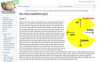 http://uncyclopedia.wikia.com/wiki/Pac-Man_(walkthrough)