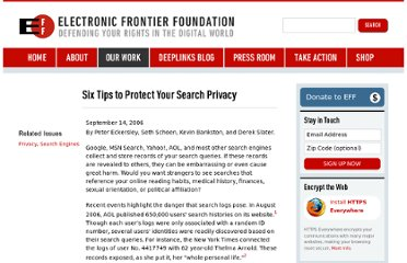https://www.eff.org/wp/six-tips-protect-your-search-privacy