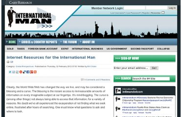 http://www.internationalman.com/global-perspectives/internet-resources-for-the-international-man