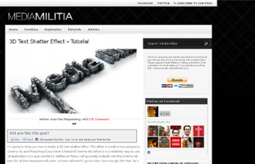 http://mediamilitia.com/3d-text-shatter-effect-with-cinema-4d-and-photoshop/
