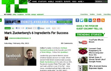 http://techcrunch.com/2012/02/04/mark-zuckerbergs-6-ingredients-for-success/