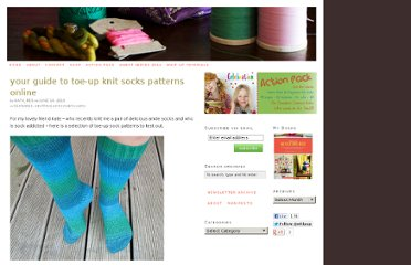 http://whipup.net/2010/06/10/your-guide-to-toe-up-knit-socks-patterns-online/