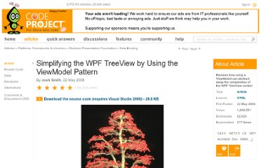 http://www.codeproject.com/Articles/26288/Simplifying-the-WPF-TreeView-by-Using-the-ViewMode