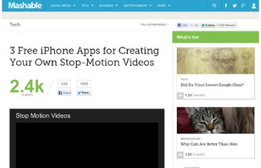 http://mashable.com/2012/02/04/free-stop-motion-iphone-apps/