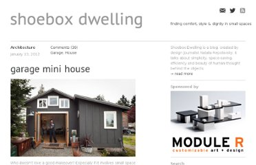 http://shoeboxdwelling.com/2012/01/13/garage-mini-house/