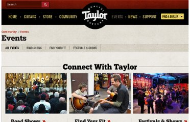 http://www.taylorguitars.com/events/all