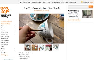 http://www.apartmenttherapy.com/how-to-decorate-your-own-tea-s-76271