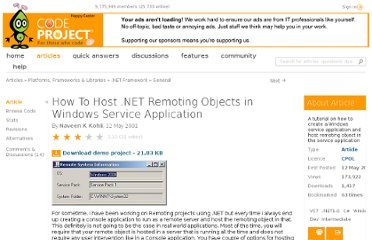http://www.codeproject.com/Articles/1111/How-To-Host-NET-Remoting-Objects-in-Windows-Servic