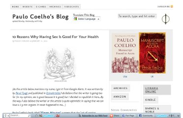 http://paulocoelhoblog.com/2012/01/11/10-reasons-why-having-sex-is-good-for-your-health/