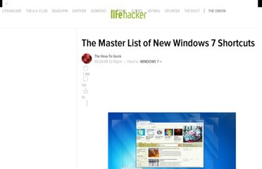 http://lifehacker.com/5390086/the-master-list-of-new-windows-7-shortcuts